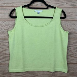 ST. JOHN Lemon Lime Knit Tank Top